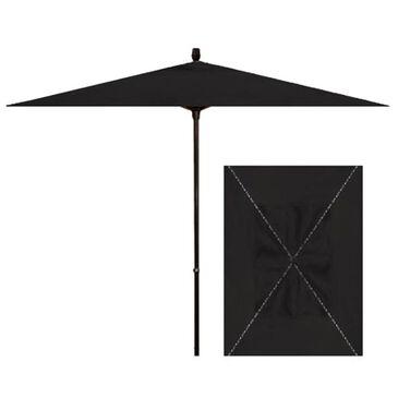 Garden Party 6' x 10' Rectangle Umbrella in Black, , large