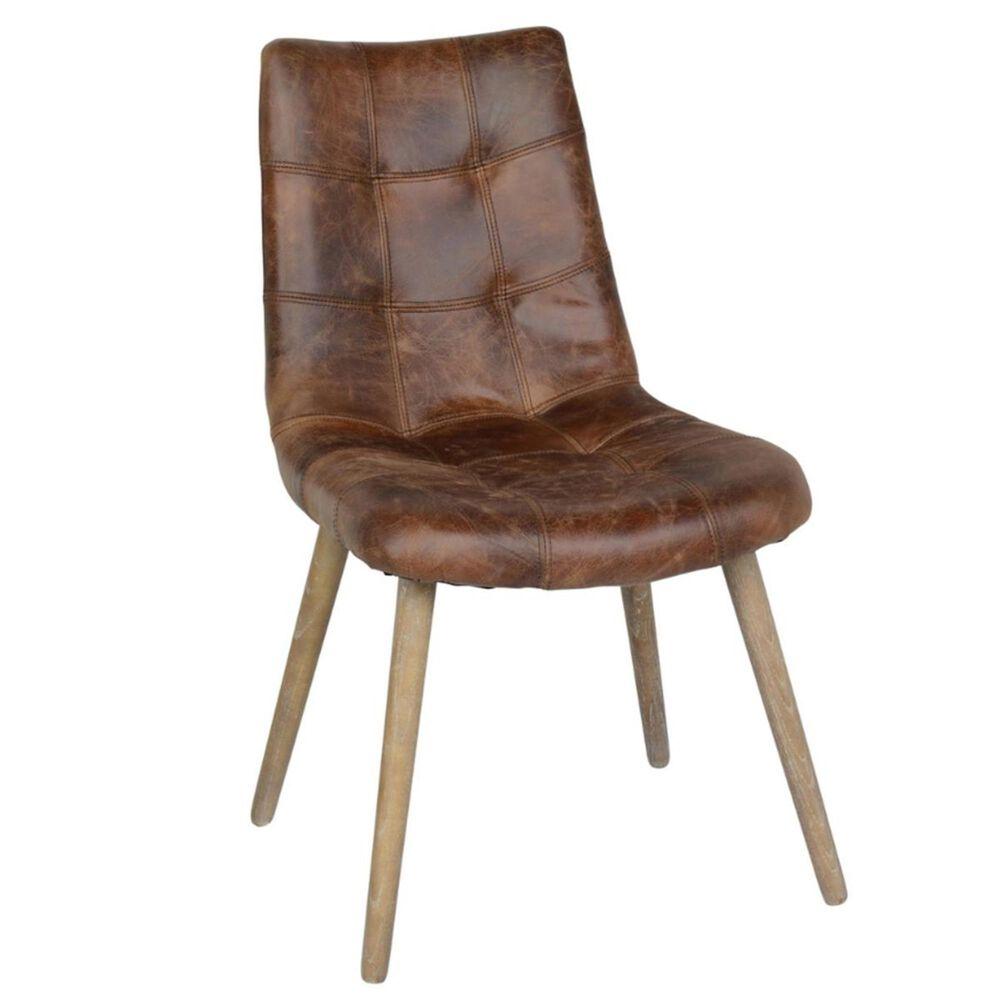 Greenbrier Interiors Roosevelt Side Chair Chestnut, , large