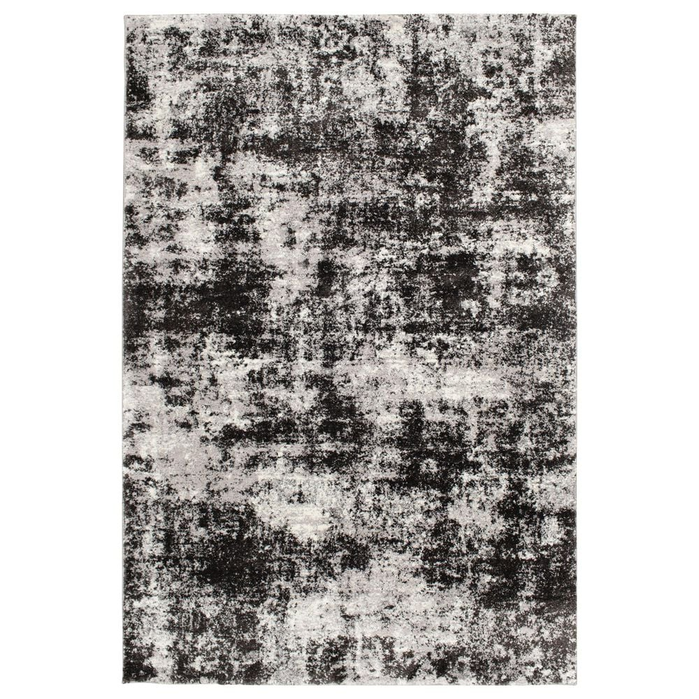 "Central Oriental Structures Torrent Winsley 6242SF 7'6"" x 9'6"" Soot and Buff Area Rug, , large"