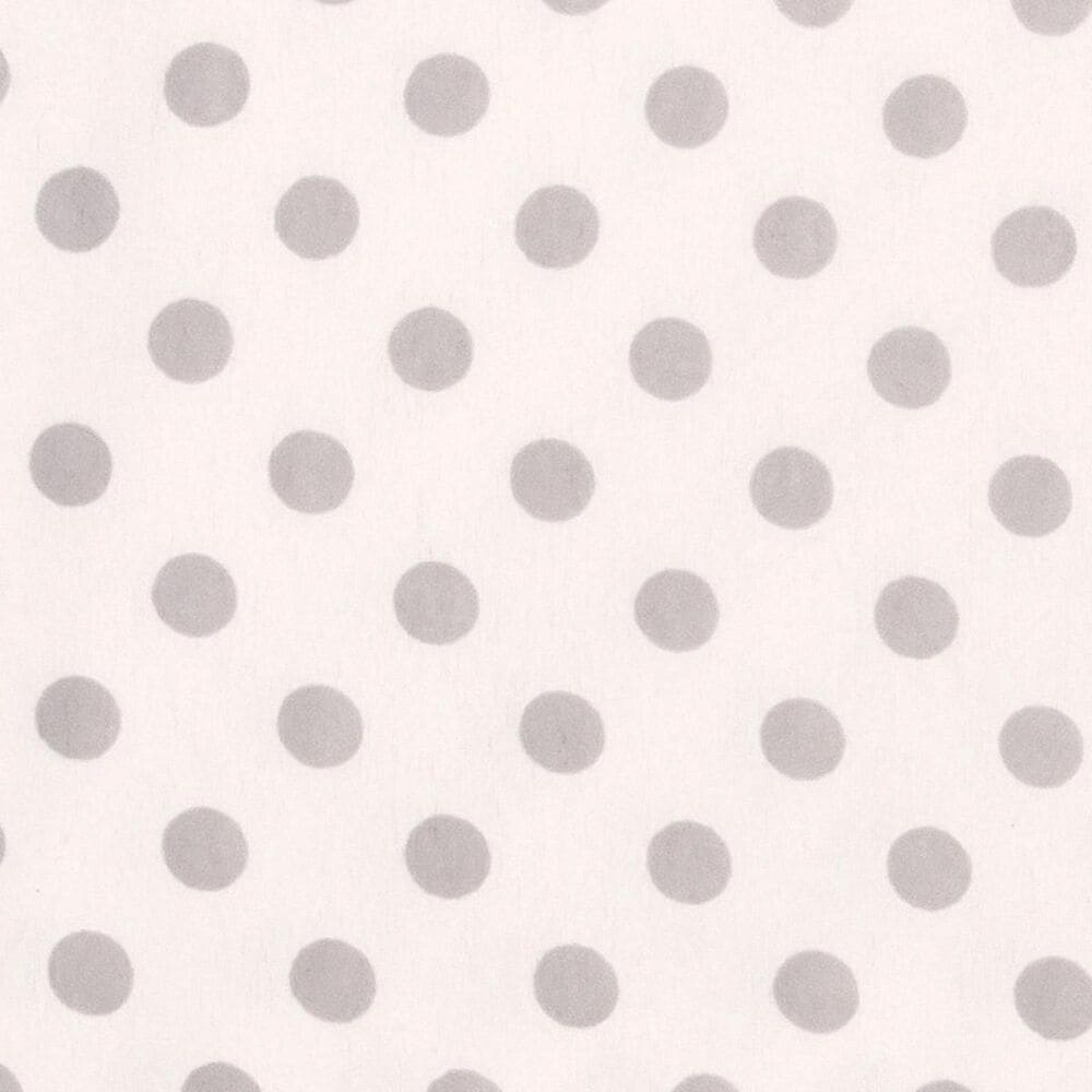 Trend Lab LLC Gray Dot Deluxe Flannel Fitted Crib Sheet, , large