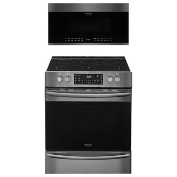 """Frigidaire Gallery 2-Piece Kitchen Package with 30"""""""" Front Control Electric Range in Black Stainless Steel, , large"""
