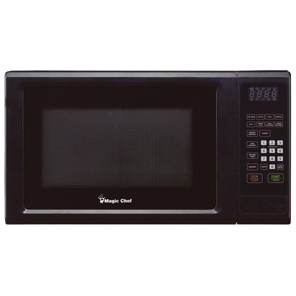 Magic Chef 1.1 Cu. Ft. 1000W Countertop Microwave Oven with Push-Button Door in Black, , large