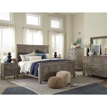 Nicolette Home Lancaster 4 Piece Queen Bedroom Set in Dovetail Grey, , large