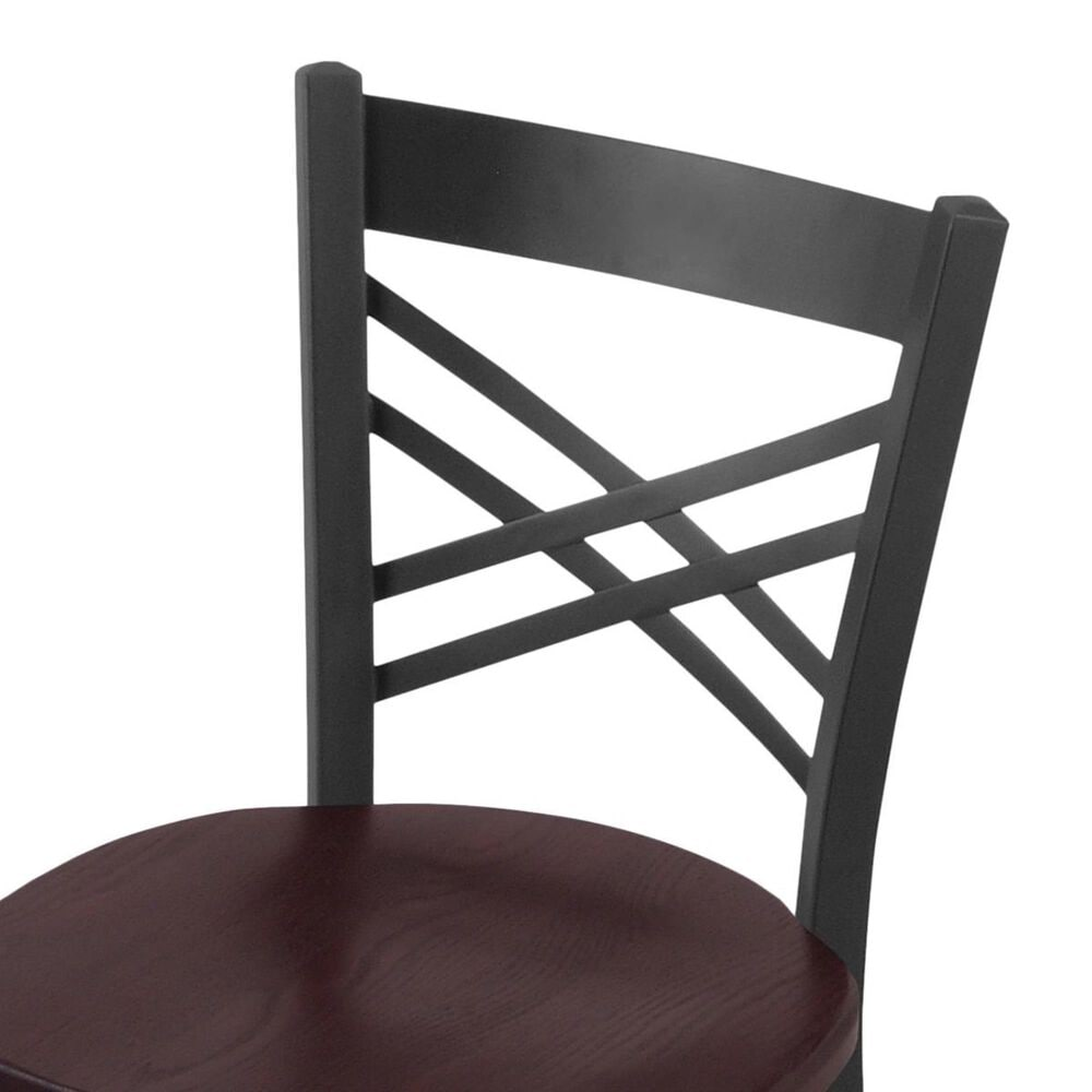 """Holland Bar Stool 620 Catalina 18"""" Chair with Pewter and Dark Cherry Oak Seat, , large"""