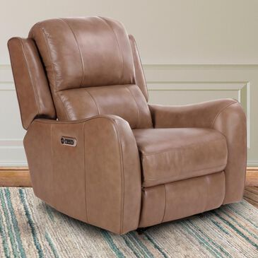 Simeon Collection Petra Leather Power Recliner in Vista, , large
