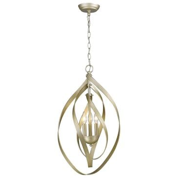 Golden Lighting Nicolette 3-Light Pendant in White Gold, , large