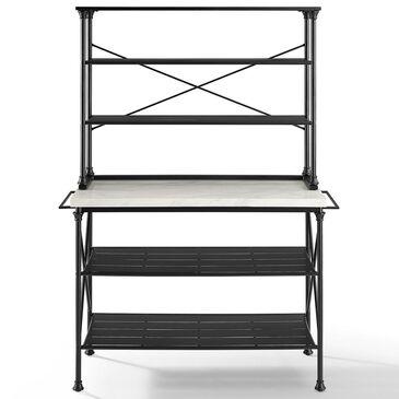 Crosley Furniture Madeleine 2-Piece Bakers Rack in Black, , large