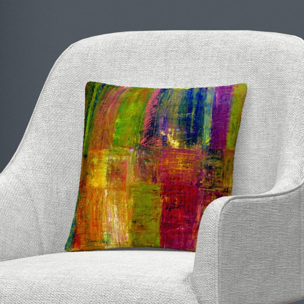 Timberlake Michelle Calkins 'Color Abstract' 16 x 16 Decorative Throw Pillow, , large