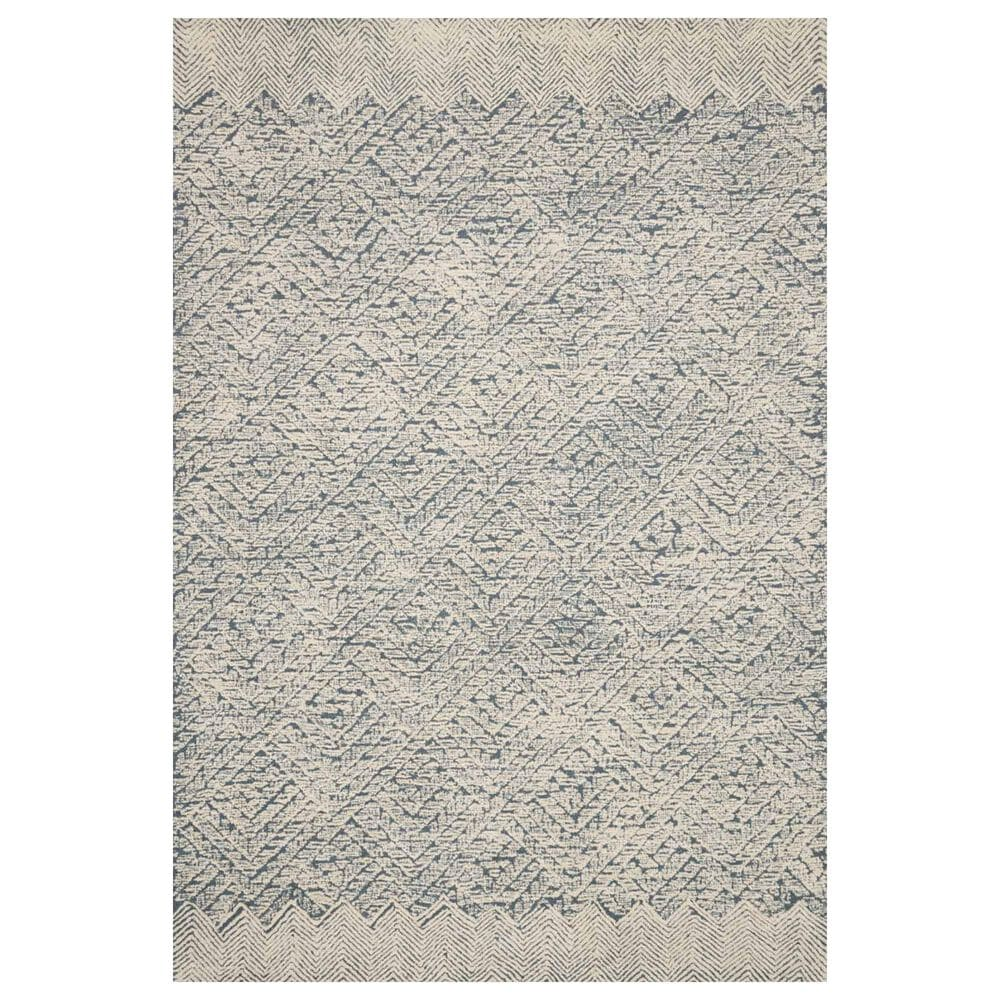 "ED Ellen DeGeneres Crafted by Loloi Kopa 7'9"" x 9'9"" Blue and Ivory Area Rug, , large"