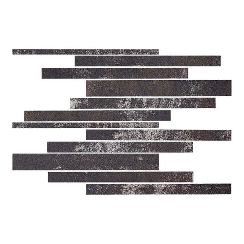 """Eleganza Metallica Dark Blue 12"""" x 12"""" Porcelain Mosaic Sheet, , large"""