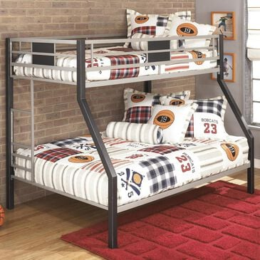 Signature Design by Ashley Twin over Full Bunk Bed in Black and Silver, , large