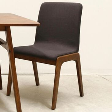 37B Remix Dining Chair with Gray Fabric in Estelle Brown, , large