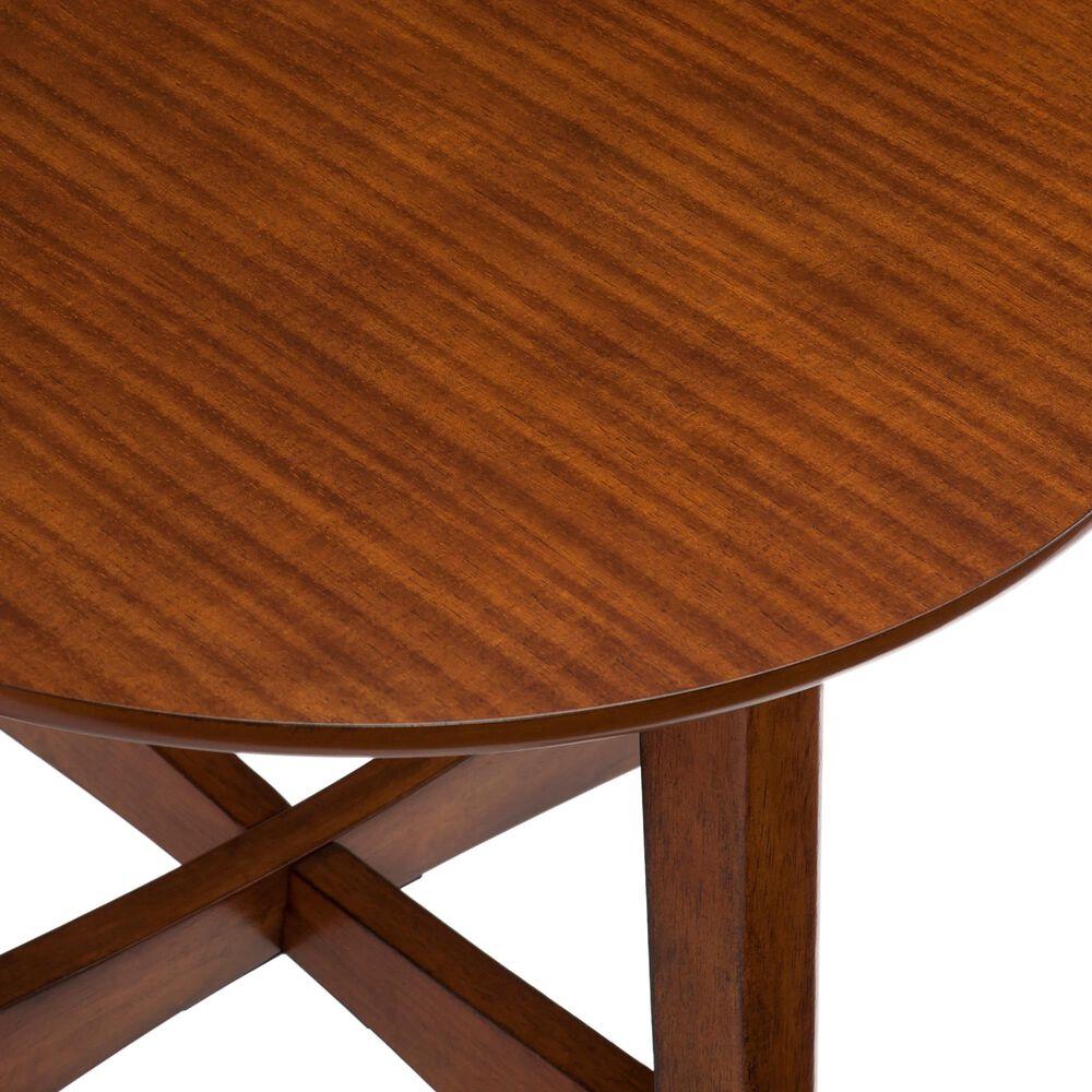 Southern Enterprises Rhoda End Table in Dark Sienna, , large