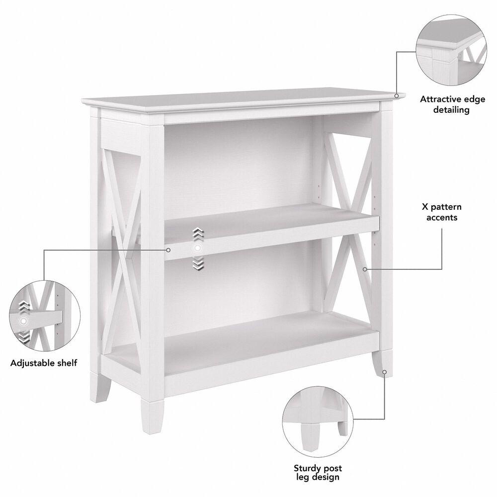 Bush Key West 2-Shelf Bookcase in Pure White Oak (Set of 2), , large