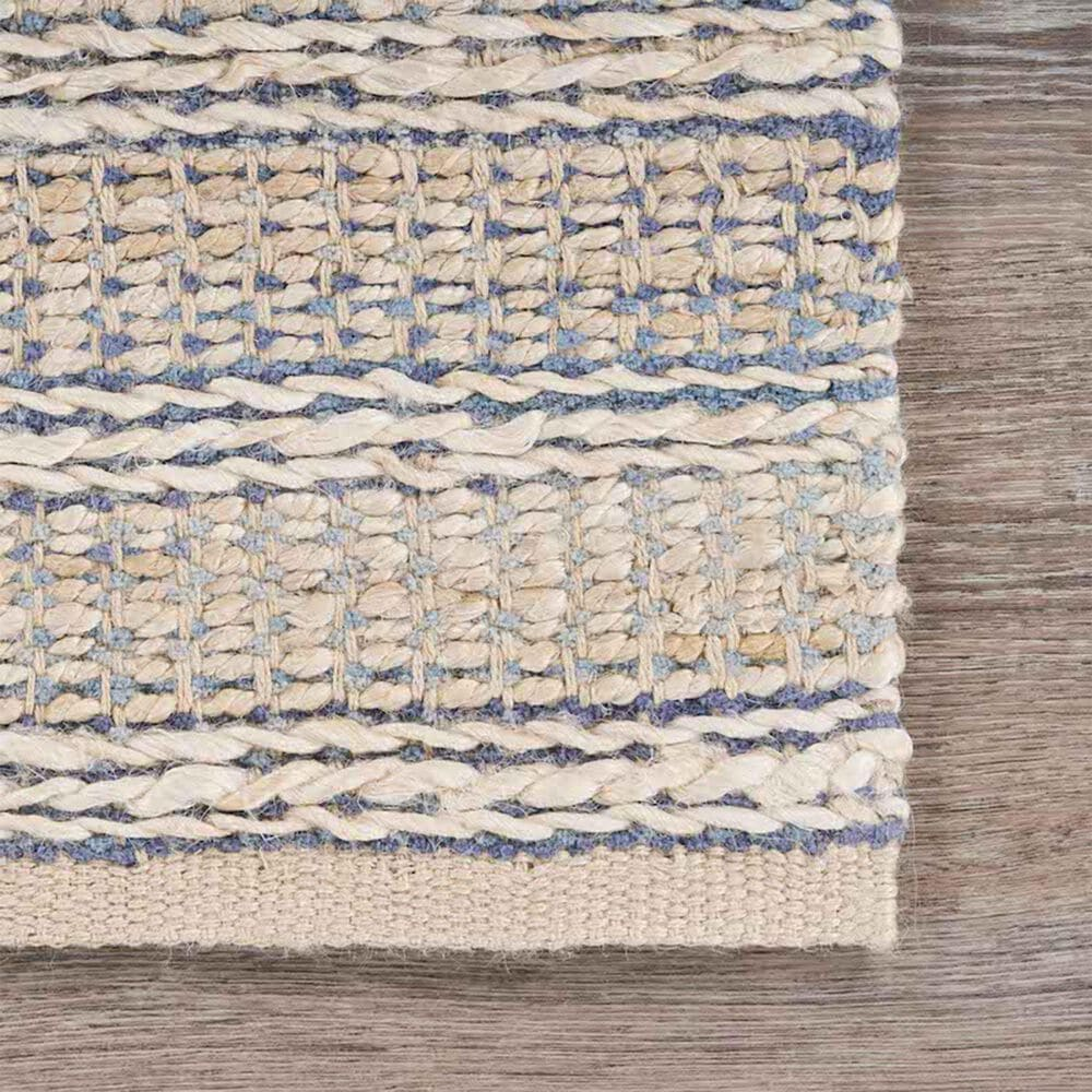 L&R Resources Bleached Naturals 9' x 12' Blue Area Rug, , large