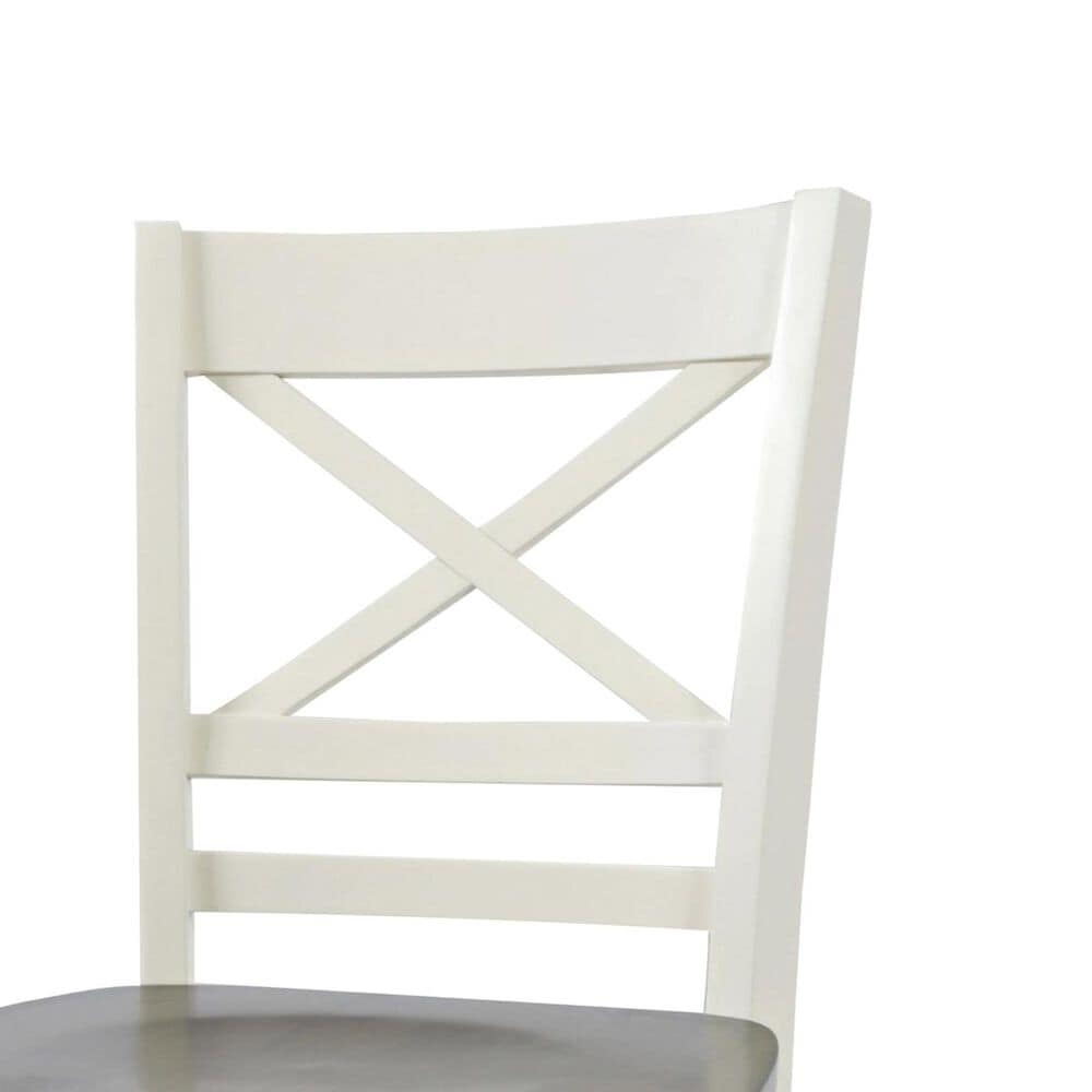 Waltham Asbury Park Counter Height Stool in White and Autumn, , large