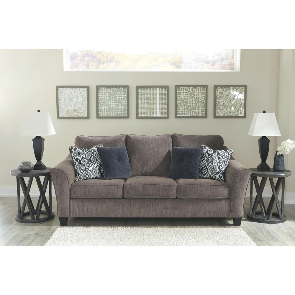 Signature Design by Ashley Nemoli Queen Sofa Sleeper in Slate, , large