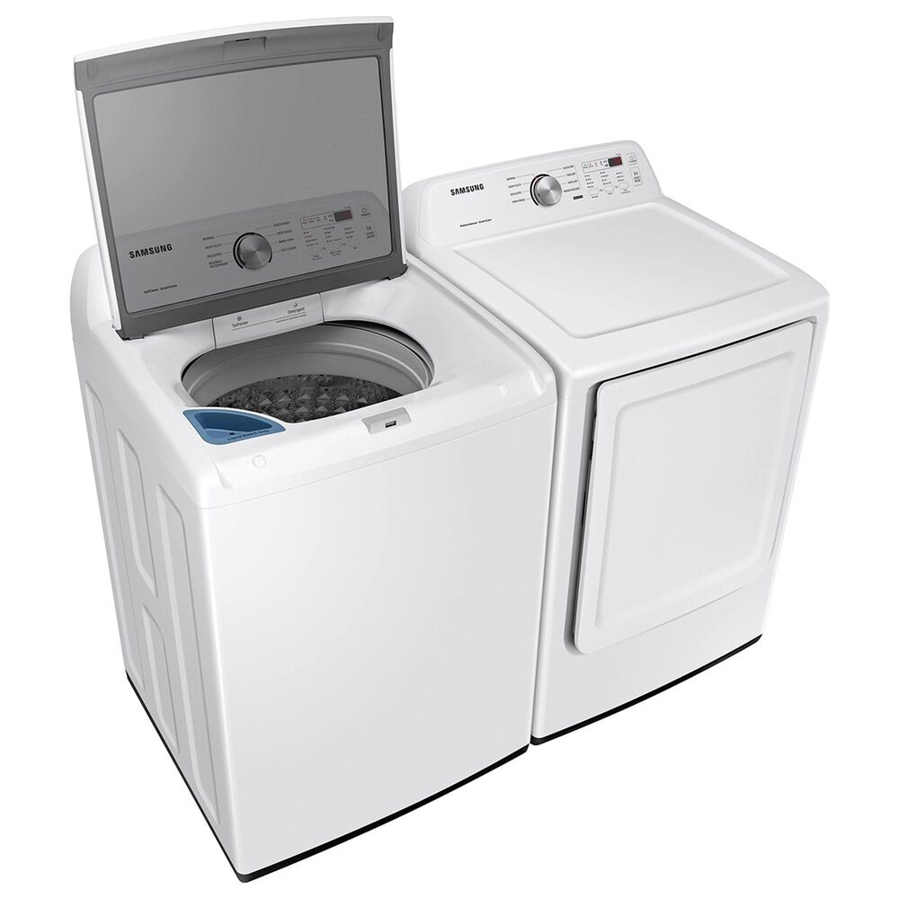 Samsung 4.4 Cu. Ft. Top Load Washer and 7.2 Cu. Ft. Gas Dryer Laundry Pair in White, , large