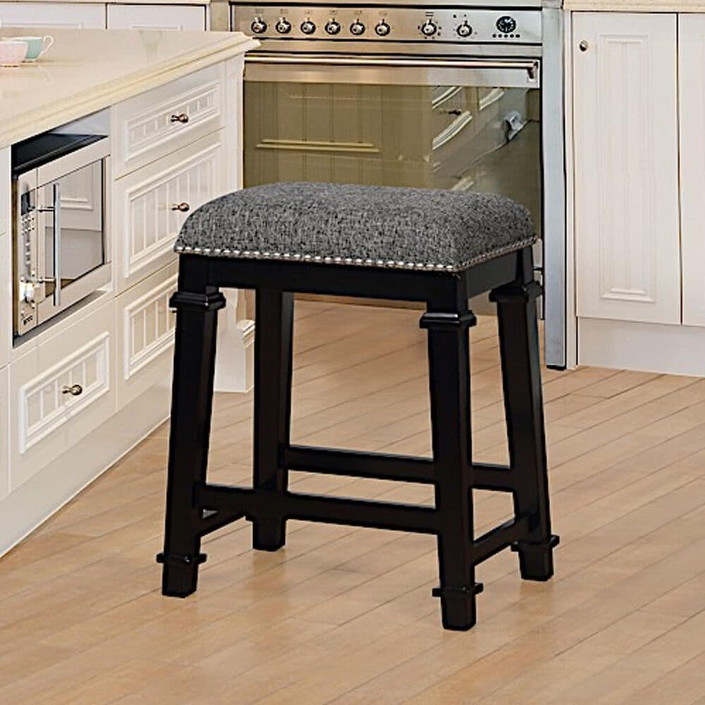 Linden Boulevard Kennedy Counter Stool in Black, , large
