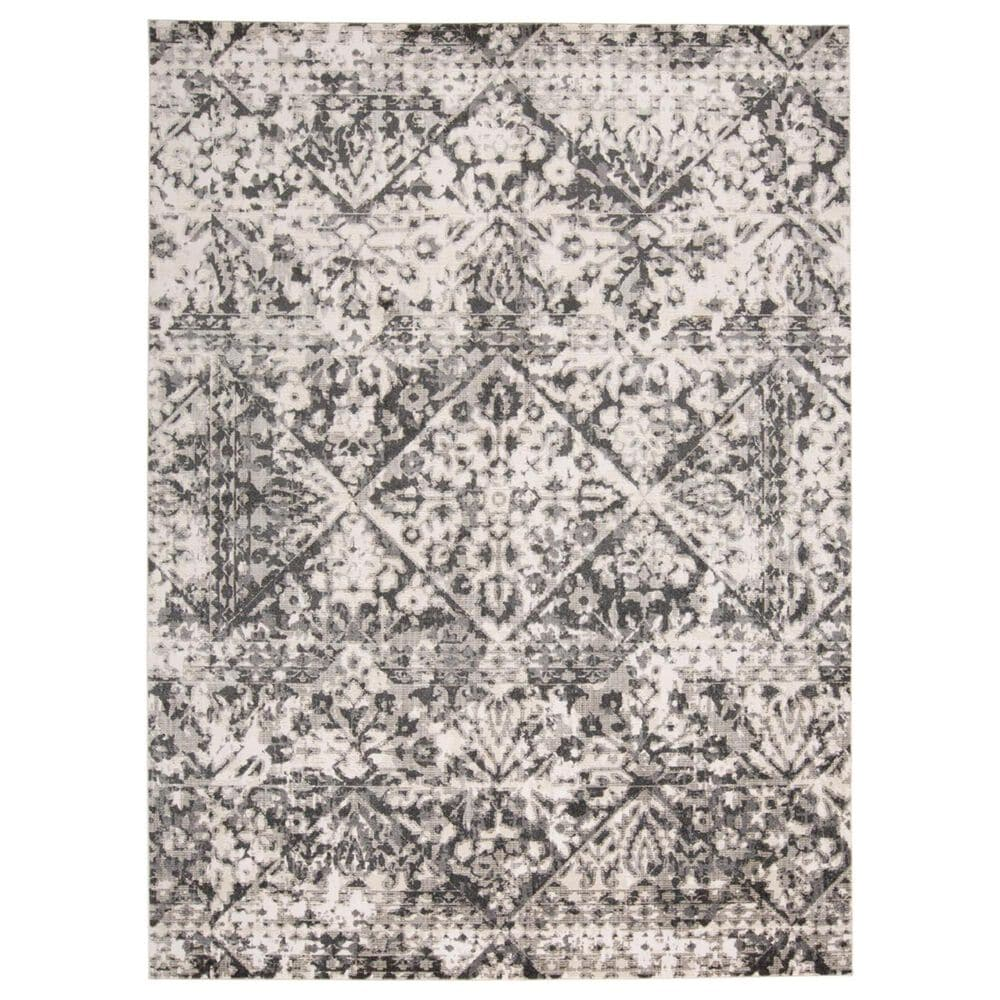 """Feizy Rugs Kano 3876F 7""""10"""" x 11"""" Charcoal and Ivory Area Rug, , large"""