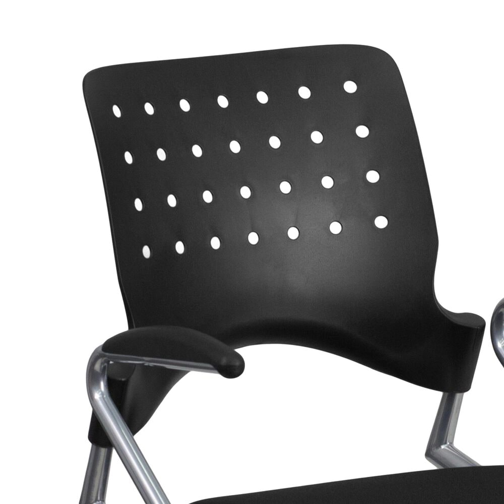 Flash Furniture Galaxy Mobile Nesting Chair in Black, , large