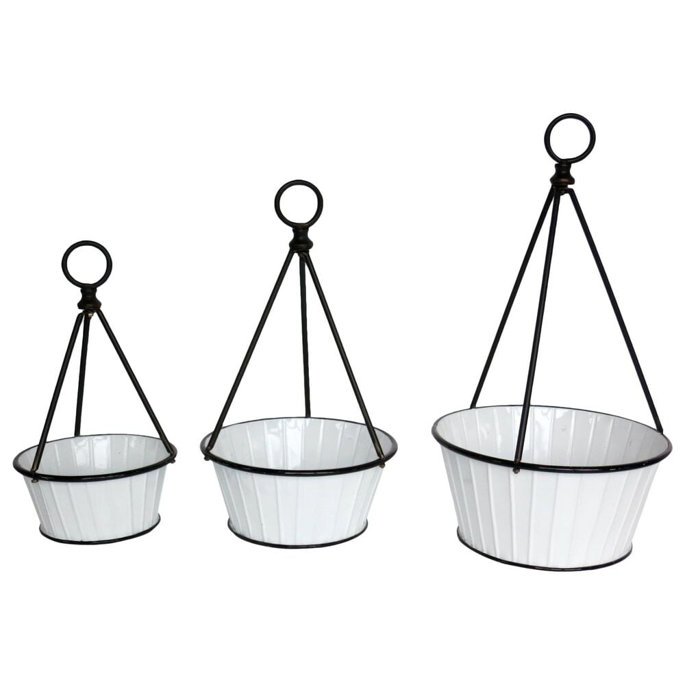 VIP Home and Garden American Mercantile Metal Planter (Set of 3), , large