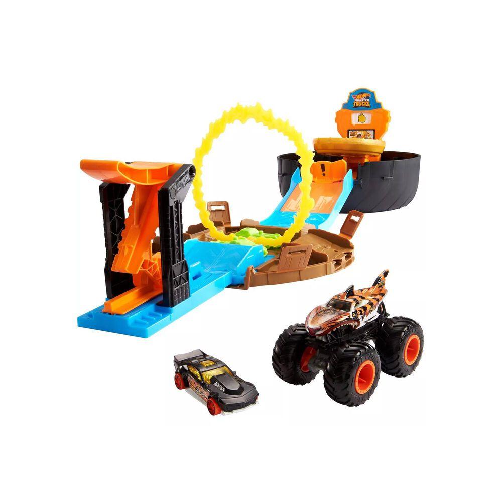 Mattel Monster Truck Stunt Tire Playset, , large