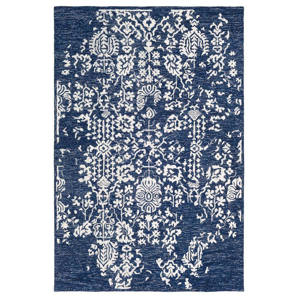 Surya Granada GND-2311 6' x 9' Dark Blue, Denim and Ivory Area Rug, , large