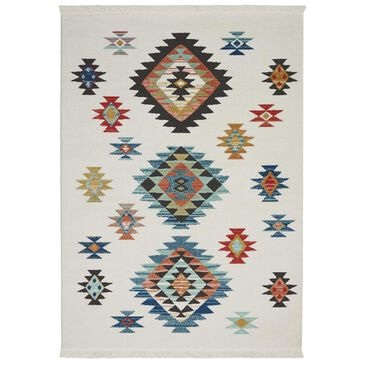 "Nourison Navajo NAV07 7'10"" x 10'9"" White Area Rug, , large"