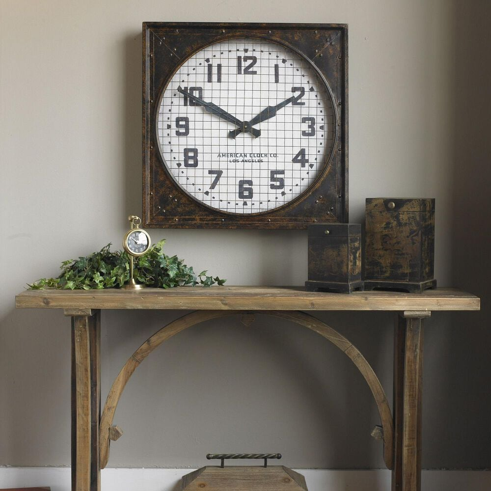 Uttermost Warehouse Wall Clock, , large