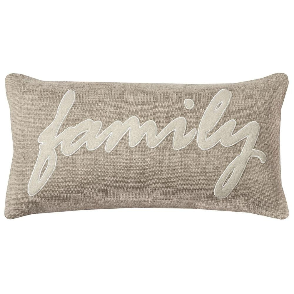 """Rizzy Home 11"""" x 21"""" Poly Fill Pillow in Brown, , large"""
