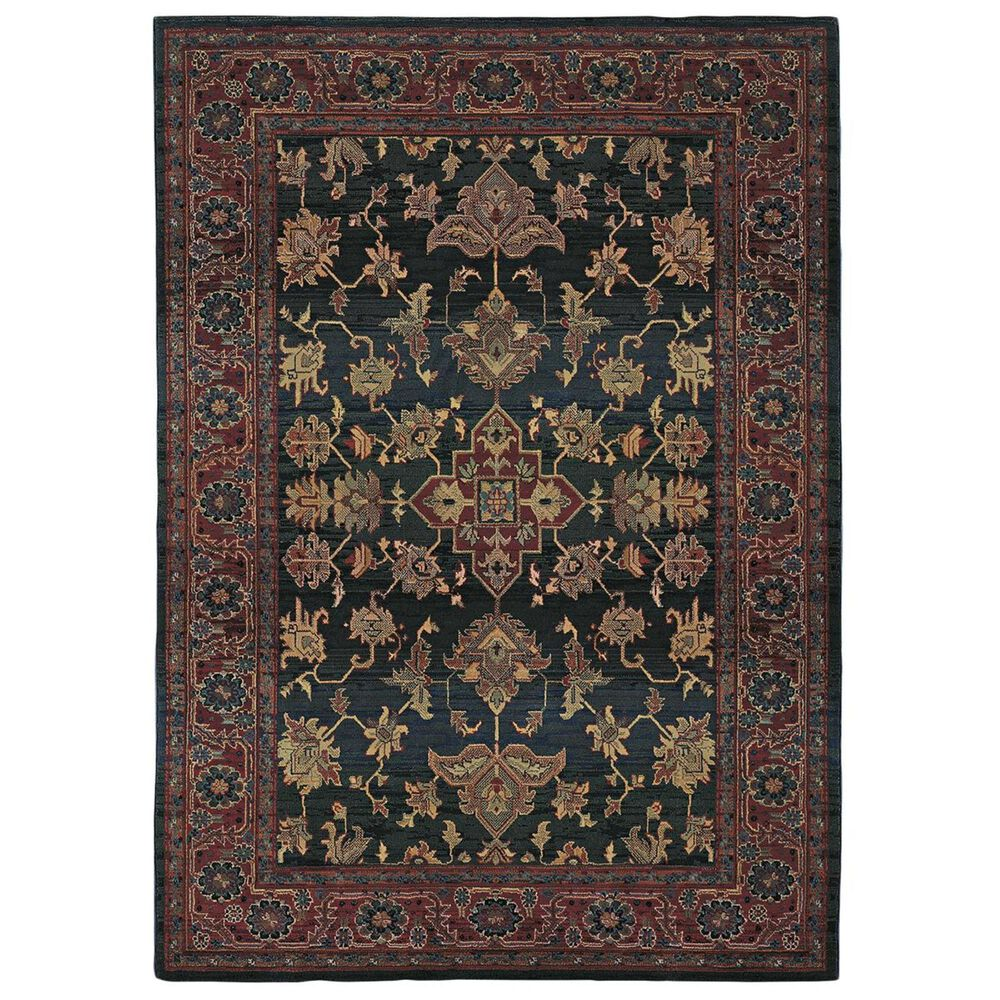 """Oriental Weavers Kharma 836F4 9""""9"""" x 12""""2"""" Blue and Red Area Rug, , large"""