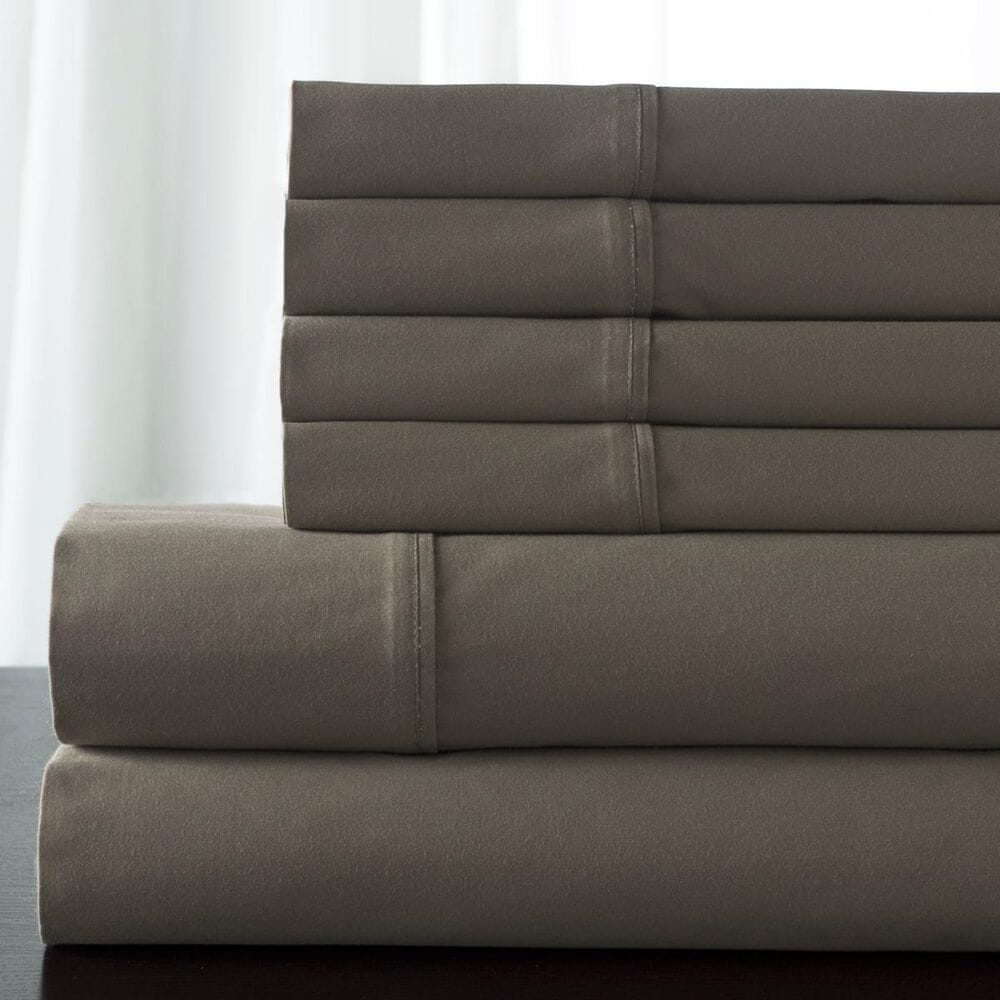 Elite Home Products T350 CAMDEN TWIN XL SHEET SET- Taupe, , large