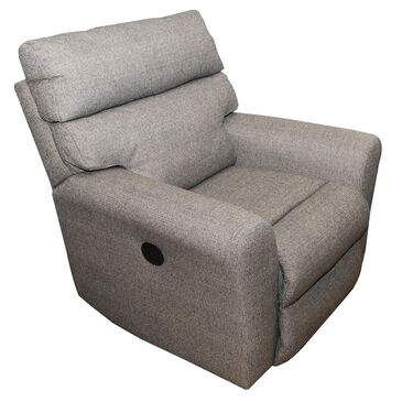 Klaussner Xavier Power Reclining Chair in Winfall Storm, , large
