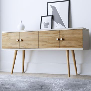 "Dayton Theodore 60"" Sideboard in Off White/Cinnamon, , large"
