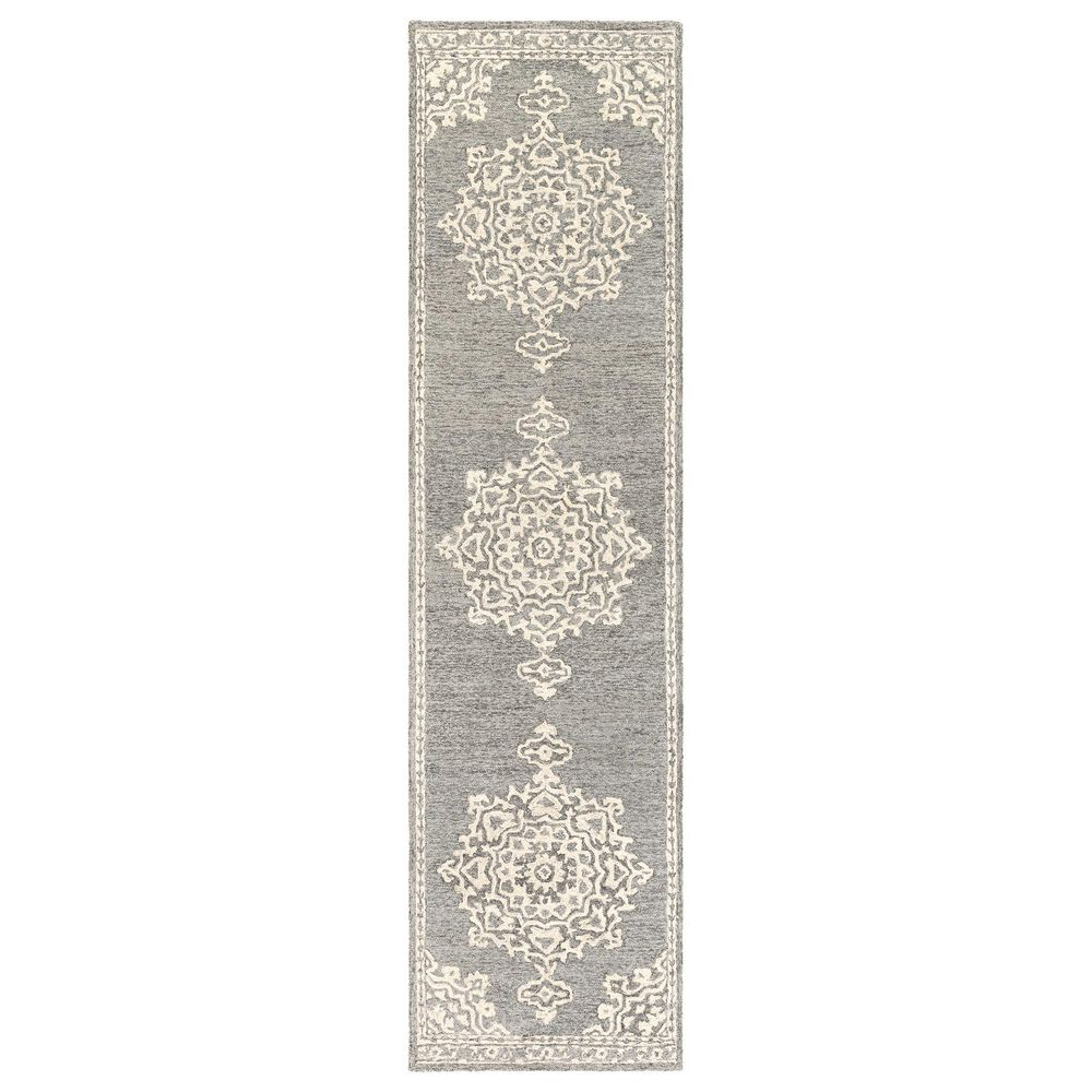 "Surya Granada GND-2310 2'6"" x 10' Medium Gray, Beige and Charcoal Runner, , large"