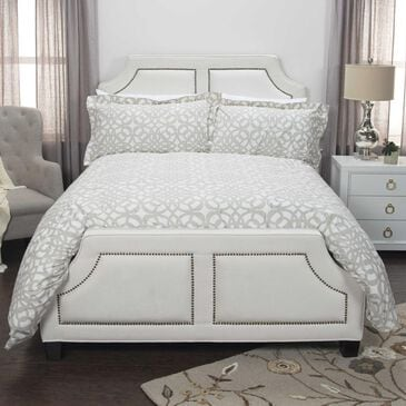 """Rizzy Home Happy Together by Donny Osmond 96"""" x 98"""" Duvet in White, , large"""