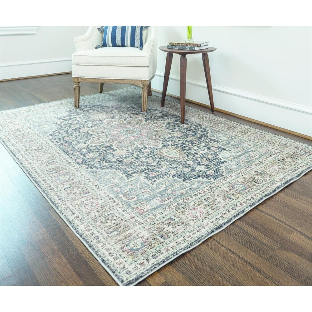 """Feizy Rugs Grayson 3578F 4'11"""" x 7'8"""" Gray and Charcoal Area Rug, , large"""