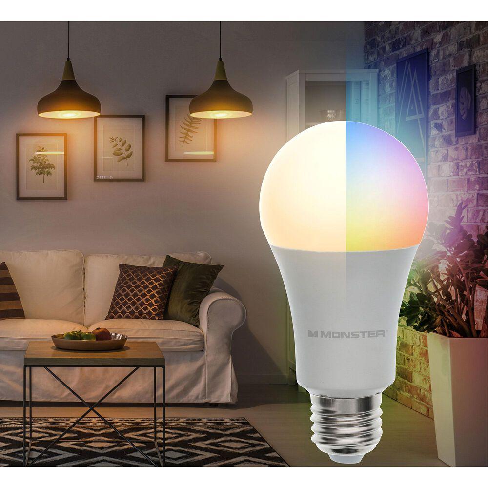 Monster Smart Illuminessence Smart Wi-Fi RGBW Light Bulb, , large