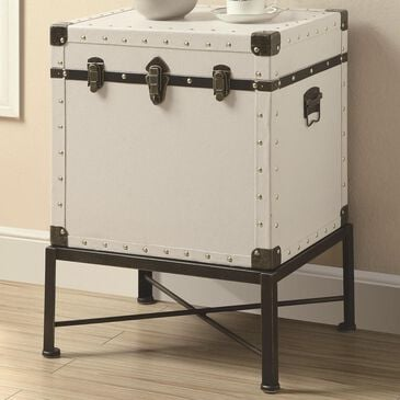 Pacific Landing Trunk-style Accent Side Table in Smooth White, , large
