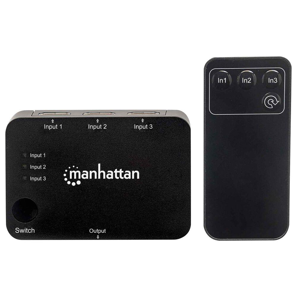 Manhattan 4K 3-Port HDMI Switch in Black, , large