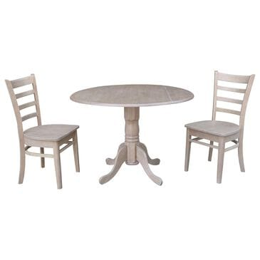 International Concepts Emily 3-Piece Dining Set in Washed Gray Taupe, , large