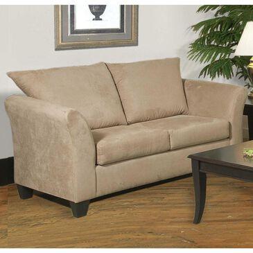 Hughes Furniture Stationary Loveseat in Mocha, , large