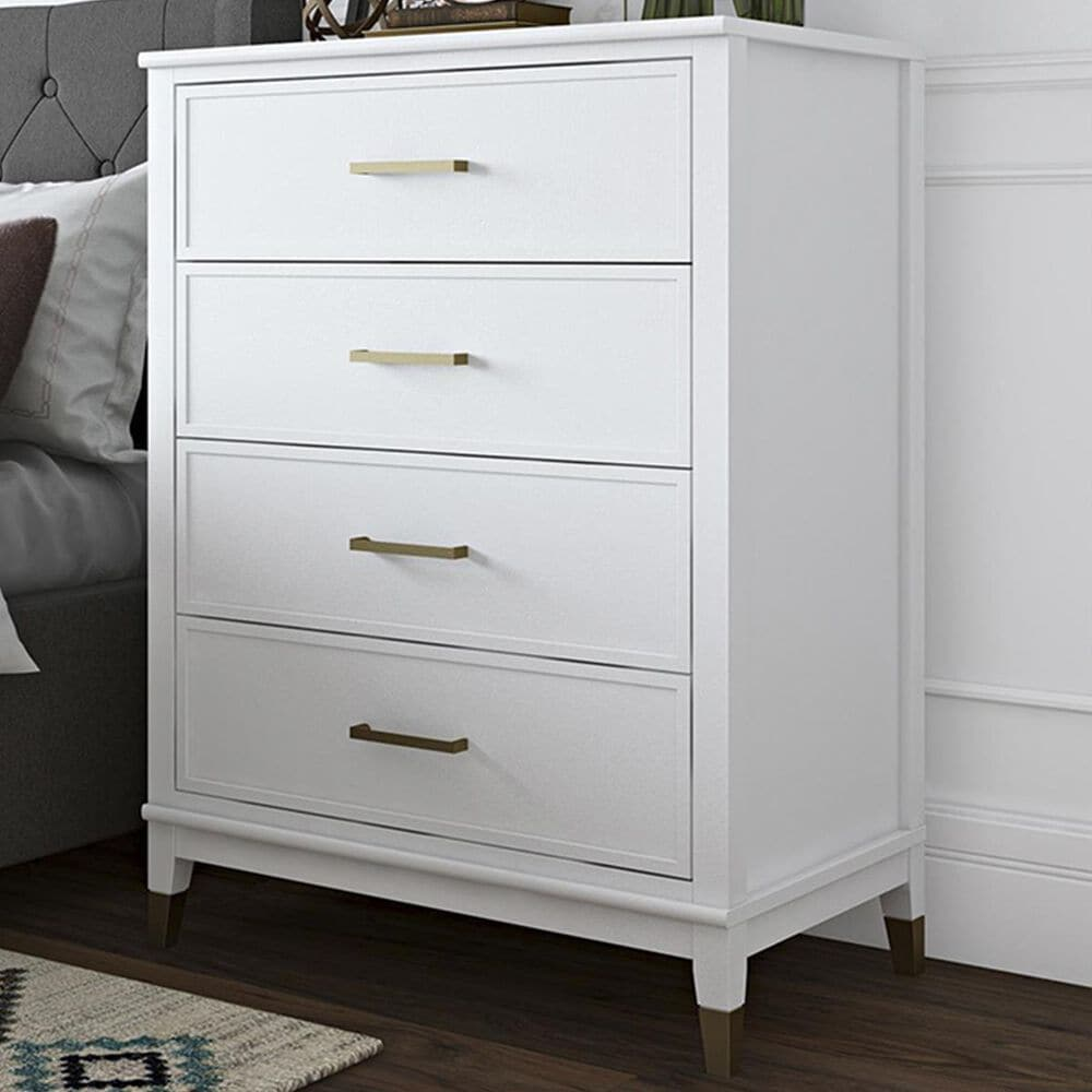 CosmoLiving by Cosmopolitan Westerleigh 4 Drawer Chest in White, , large