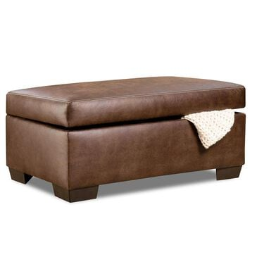 Simmons Upholstery Shiloh Storage Ottoman in Sable, , large