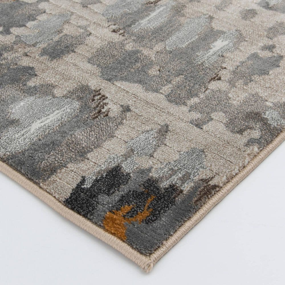 Central Oriental Adore Zed 9275WCE 8' x 10' Whitecap, Cement and Orange Area Rug, , large