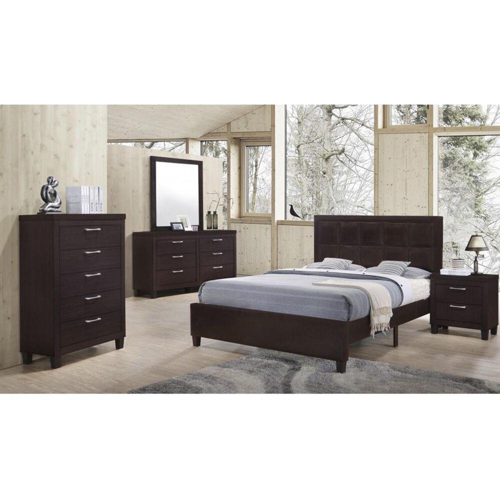 Titanic Furniture Bedroom 4 Piece Queen Bedroom Set in Walnut, , large