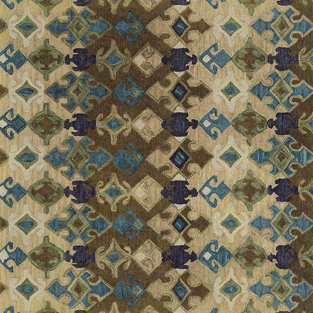 Oriental Weavers Jamison 53308 8' x 10' Beige and Blue Area Rug, , large