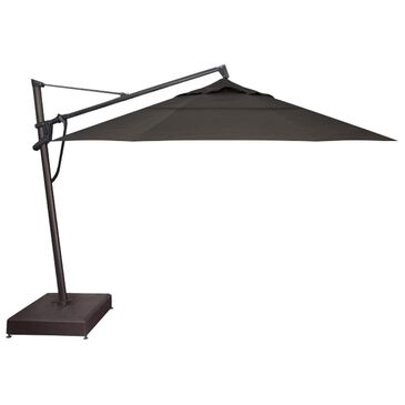 Garden Party 13' Starlux Lighted Cantilever Umbrella with Black Wheeled Base in Carbon, , large