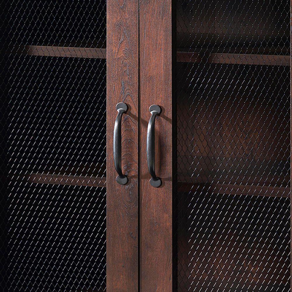 Furniture of America Dickerson 5-Shelf Cabinet in Vintage Walnut, , large